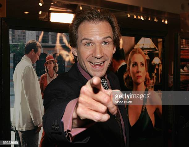 Actor Ralph Fiennes attends the US premiere of the film 'The White Countess' on October 18 2005 at the Motion Picture Academy in Beverly Hills...