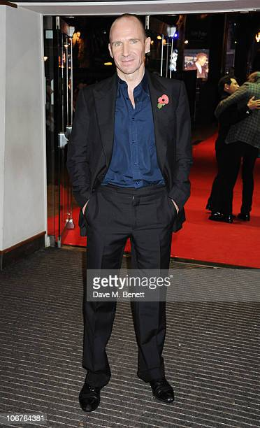 Actor Ralph Fiennes attends the World Premiere of Harry Potter And The Deathly Hallows Part 1 at Odeon Leicester Square on November 11 2010 in London...