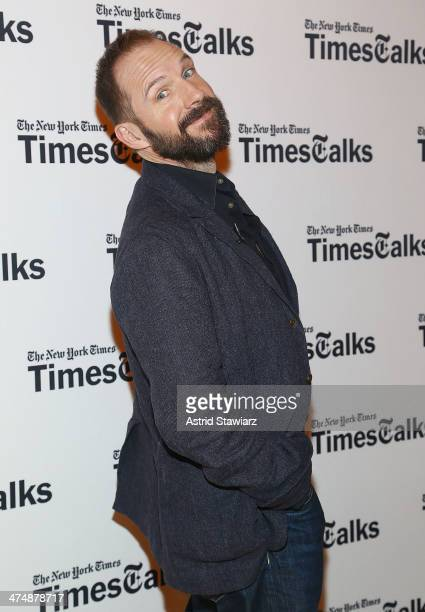 Actor Ralph Fiennes attends TimesTalk Presents An Evening With Wes Anderson And Ralph Fiennes at The Times Center on February 25 2014 in New York City