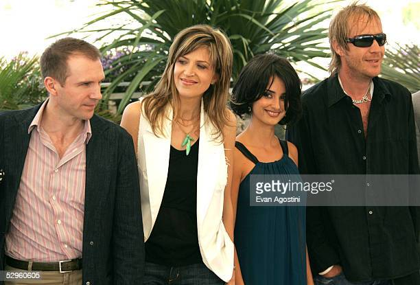 Actor Ralph Fiennes his sister director Martha Fiennes actress Penelope Cruz and actor Rhys Ifans attend a photocall promoting the film Chromophobia...