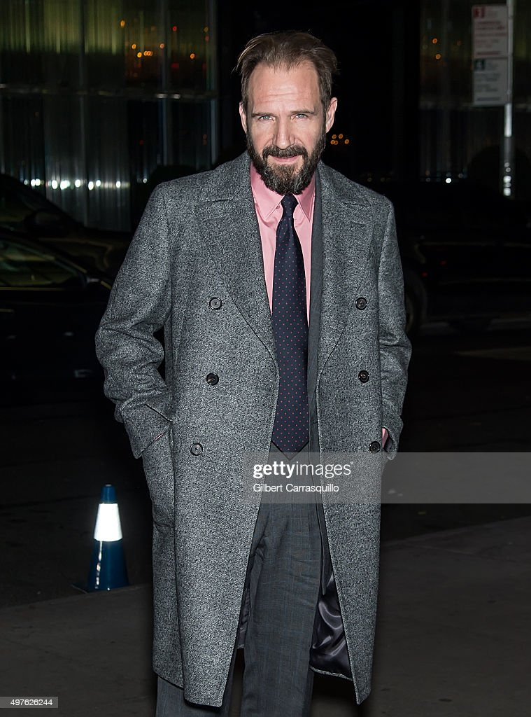 Actor Ralph Fiennes is seen arriving at The Museum of Modern Art's 8th Annual Film Benefit honoring Cate Blanchett at The Museum of Modern Art on November 17, 2015 in New York City.