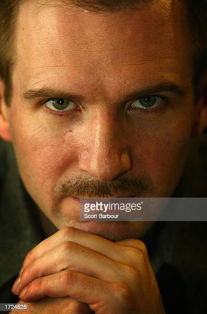 Actor Ralph Fiennes poses for a portrait at the Royal National Theatre November 19 2002 in London Fiennes who recently played a brutal serial killer...