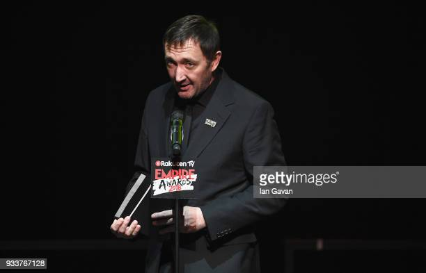 Actor Ralph Ineson presents the award for Best Horror on stage during the Rakuten TV EMPIRE Awards 2018 at The Roundhouse on March 18 2018 in London...