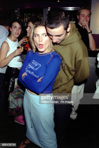 Actor Ralph Little with actress Lisa Rogers at Channel 5's Family Affairs celebrity party held at the Ten Rooms in London
