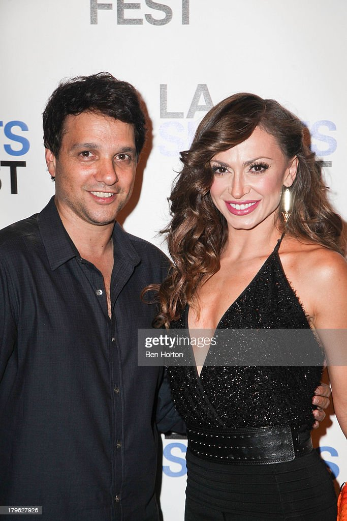 Actor Ralph Macchio and ballroom dancer Karina Smirnoff (shoe detail) attends the opening night of the 2013 Los Angeles International Short Film Festival at Laemmle NoHo 7 on September 5, 2013 in North Hollywood, California.