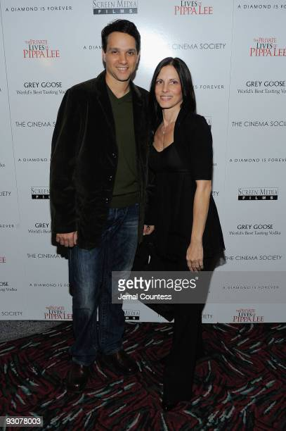 Actor Ralph Macchio and Phyllis Fierro attend The Cinema Society A Diamond is Forever screening of The Private Lives of Pippa Lee at AMC Loews 19th...