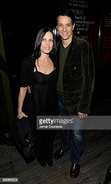 Actor Ralph Macchio and Phyllis Fierro attend the Cinema Society and A Diamond is Forever after party screening of The Private Lives Of Pippa Lee at...