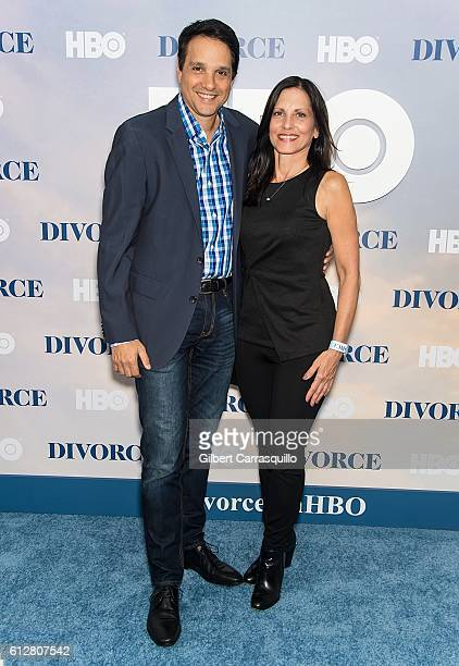 Actor Ralph Macchio and wife Nurse practitioner Phyllis Fierro attend the 'Divorce' New York Premiere at SVA Theater on October 4 2016 in New York...
