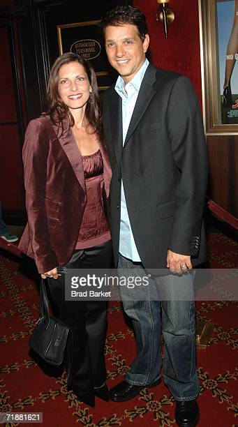 Actor Ralph Macchio and wife Phyllis Fierro arrive at the world premiere of Artie Lange's Beer League at the Ziegfeld Theatre on September 13 2006 in...
