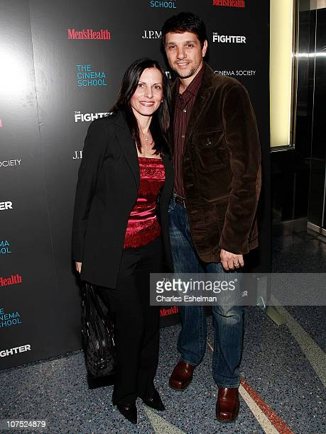 Actor Ralph Macchio and wife Phyllis Fierro attend The Cinema Society Men's Health screening of The Fighter To Benefit The Cinema School at SVA...