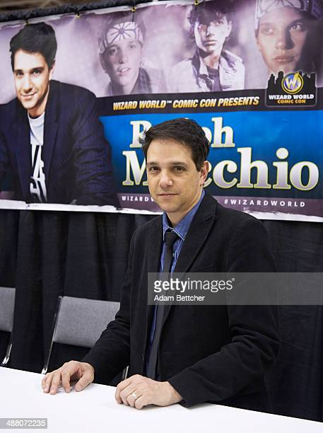 Actor Ralph Macchio poses during an autograph session at the first Wizard World Comic Con at the Minneapolis Convention Center on May 3 2014 in...