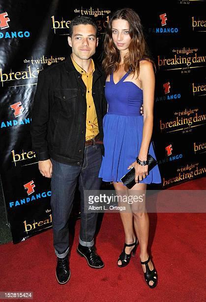 Actor Rami Malek and actress Angela Sarafyan arrive for Summit Entertainment's The Twilight Saga Breaking Dawn PART 2 VIP ComicCon Celebration...