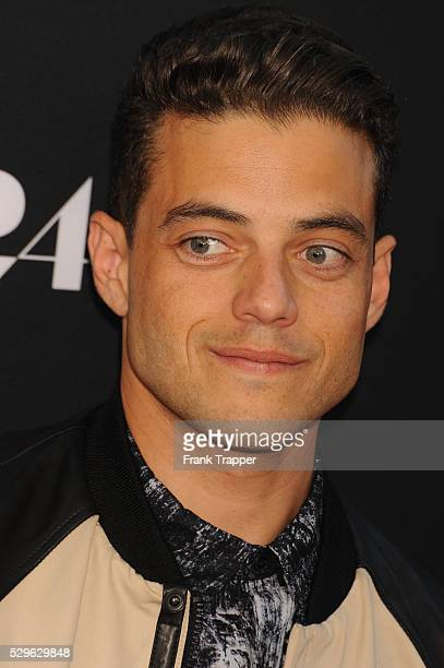 """Actor Rami Malek arrives at the premiere of """"The Rover"""" held at the Regency Bruin Theatre in Westwood."""