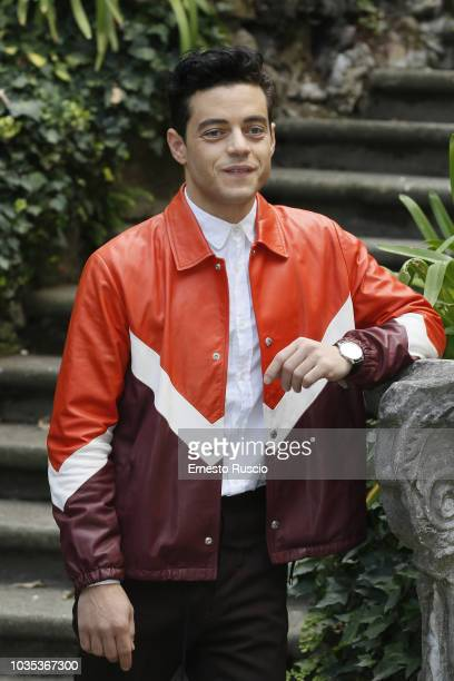 Actor Rami Malek attends a photocall for Bohemian Rhapsody at Hotel De Russie on September 18 2018 in Rome Italy