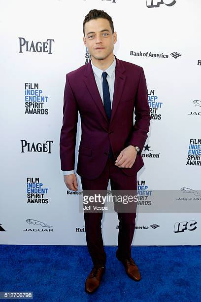 Actor Rami Malek attends the 2016 Film Independent Spirit Awards on February 27 2016 in Santa Monica California