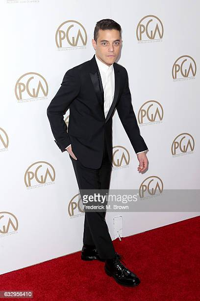 Actor Rami Malek attends the 28th Annual Producers Guild Awards at The Beverly Hilton Hotel on January 28 2017 in Beverly Hills California