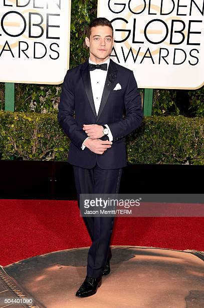 Actor Rami Malek attends the 73rd Annual Golden Globe Awards held at the Beverly Hilton Hotel on January 10 2016 in Beverly Hills California