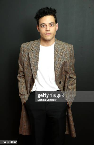 Actor Rami Malek attends the Calvin Klein Collection fashion show at New York Stock Exchange on September 11 2018 in New York City
