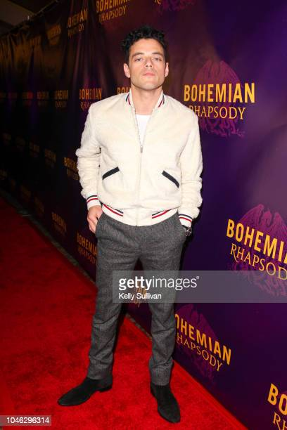 Actor Rami Malek poses for a photo on the red carpet for a special screening of 'Bohemian Rhapsody' at the Castro Theatre on October 5 2018 in San...
