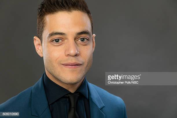 Actor Rami Malek poses for a portrait during the NBCUniversal Press Day at The Langham Huntington Pasadena on January 14 2016 in Pasadena California...