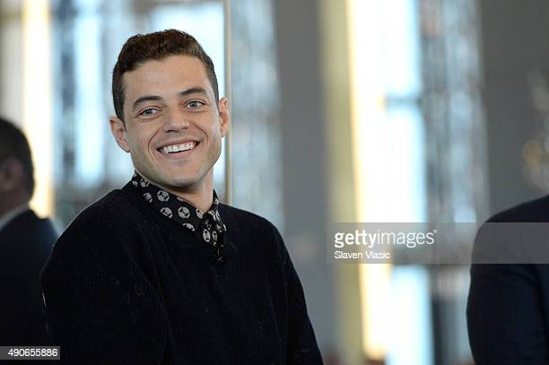 Actor Rami Malek speaks onstage at the Leadership Breakfast at Rainbow Room – Creating Quality Original Content panel presented by NBCUniversal...