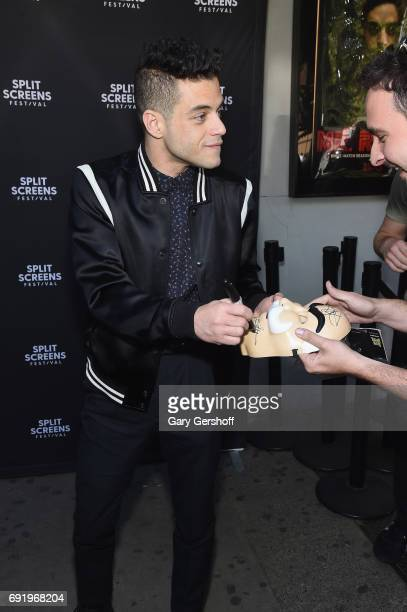 Actor Rami Malik greets fans during the 'Mr Robot' Close Up with Rami Malek during the 2017 IFC Split Screens Festival at IFC Center on June 3 2017...