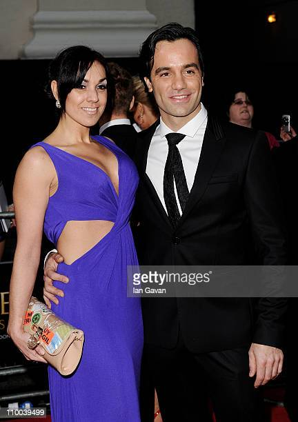 Actor Ramin Karimloo and wife Mandy Karimloo attend The Olivier Awards 2011 at Theatre Royal on March 13 2011 in London England