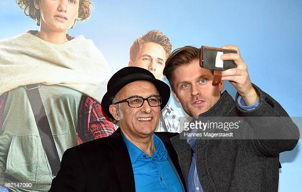 Actor Ramin Yazdani and Jens Atzorn attends the premiere of the film 'Fuenf Freunde 4' at Cinemaxx on January 25 2015 in Munich Germany