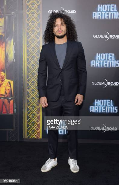 Actor Ramses Jimenez attends the Los Angeles premiere of 'Hotel Artemis' on May 19, 2018 in Westwood Village, California.