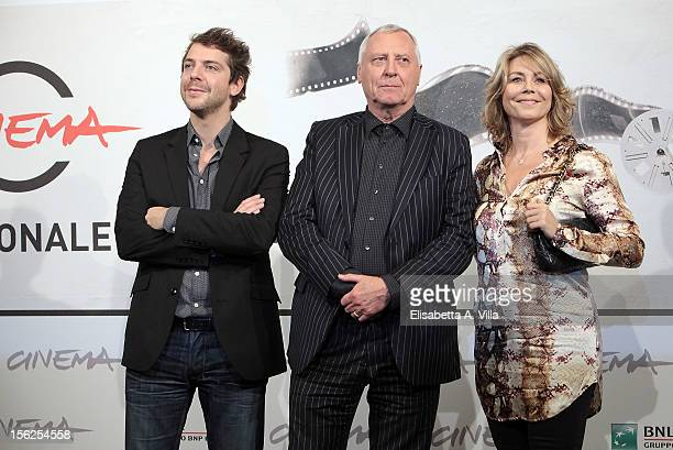 Actor Ramsey Nasr director Peter Greenaway and actress Anne Louise Hassing attend the Goltzius and the Pelican Company Photocall during the 7th Rome...