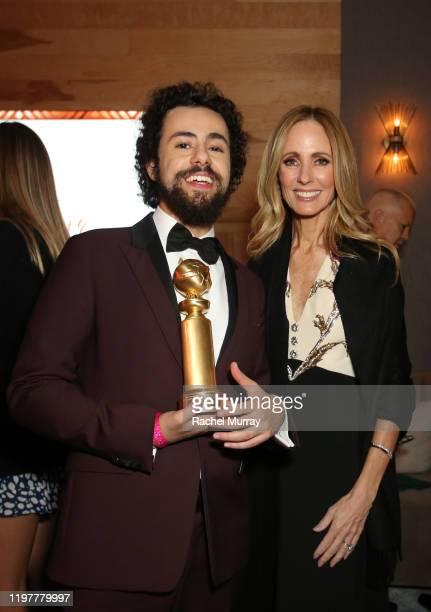 Actor Ramy Youssef Golden Globe winner for Best Performance by an Actor in a Television Series Musical or Comedy and Dana Walden Chairman Disney...