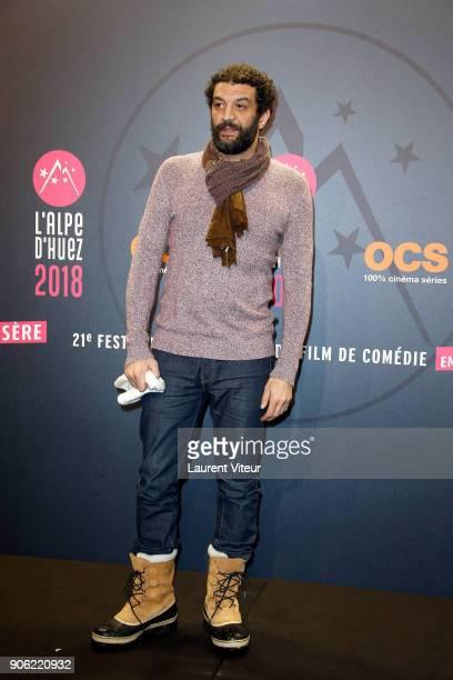 Actor Ramzy Bedia attends 'Les Aventures de Spirou et Fantasio' Premiere during the 21st Alpe D'Huez International Comedy Film Festival on January 17...