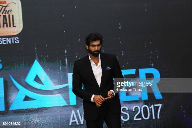 Actor Rana Daggubati during the Hindustan Times Game Changer Awards 2017 at Hotel Oberoi on May 24 2017 in Gurgaon India