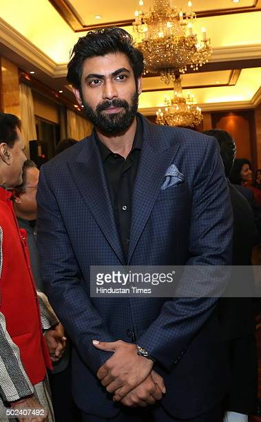 Actor Rana Daggubati during the party hosted by Congress leader T Subbarami Reddy in the honour of Tennis player Sania Mirza on December 22 2015 in...