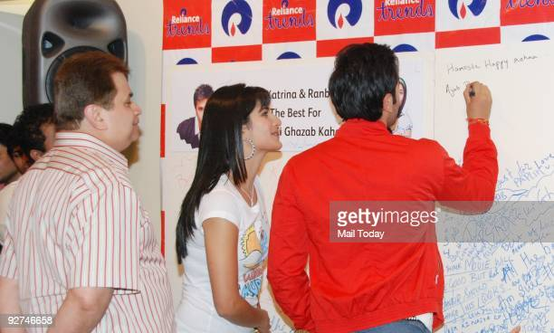 Actor Ranbir Kapoor and Katrina Kaif at an event to promote their upcoming film 'Ajab Prem Ki Ghazab Kahani' in Mumbai on Monday November 2 2009