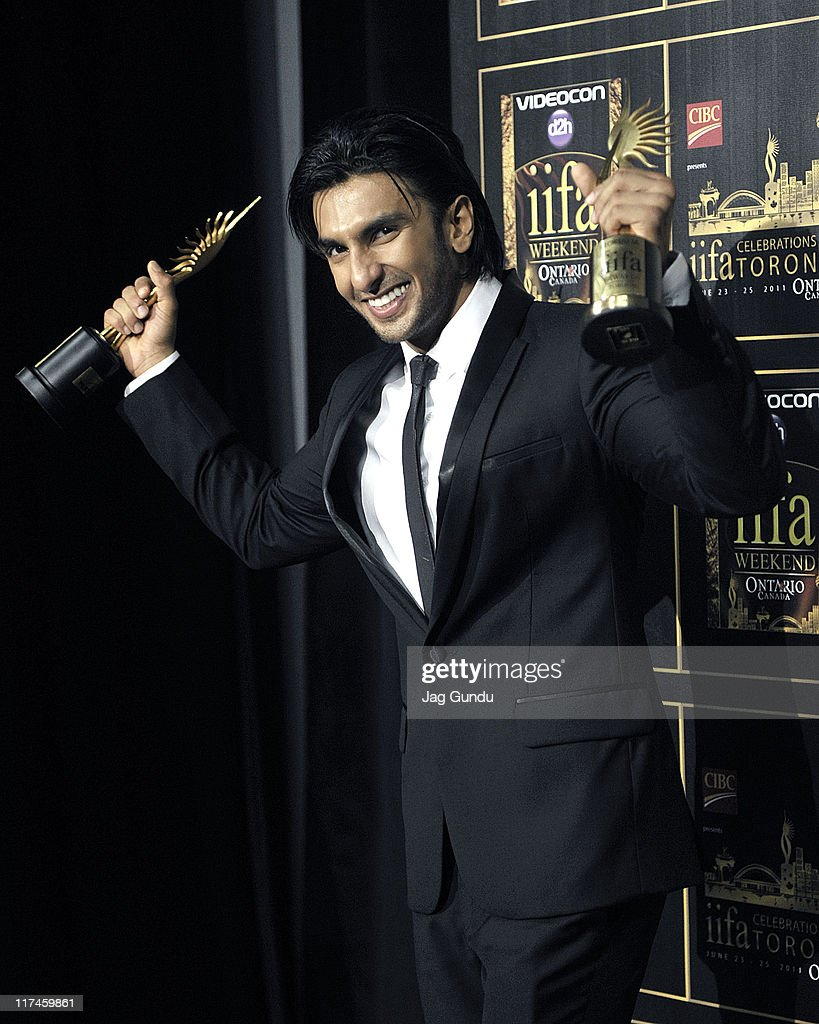 Actor Ranbir Singh wins IIFA Awards for best Romantic Couple and Best Debut Actor held at the Rogers Centre on June 25, 2011 in Toronto, Canada.