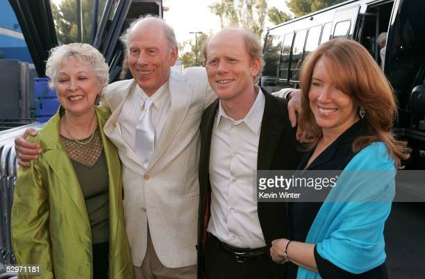 Actor Rance Howard wife Judy director Ron Howard and wife Cheryl Howard arrive at the premiere of 'Cinderella Man' at Gibson Amphitheatre at...