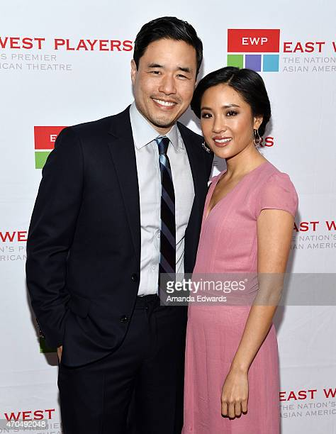 Actor Randall Park and actress Constance Wu arrive at the East West Players' Golden Anniversary Visionary Awards Dinner and Silent Auction at the...