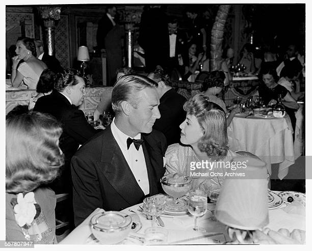 Actor Randolph Scott at an event in Los Angeles California