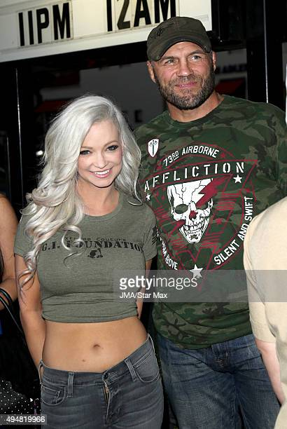 Actor Randy Couture and Mindy Robinson are seen on October 28 2015 in Los Angeles California