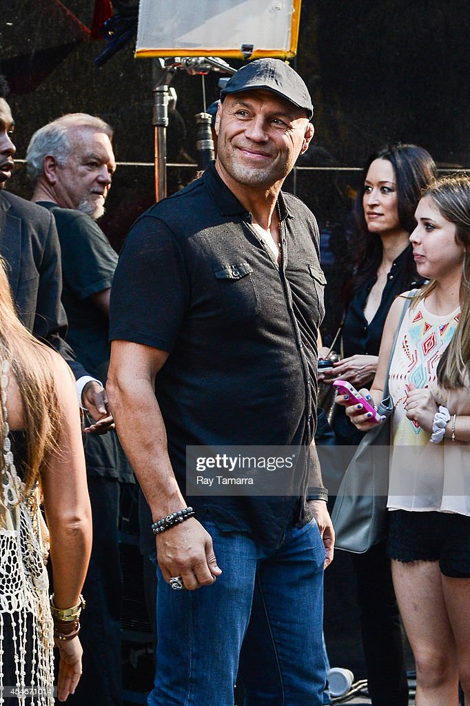Actor Randy Couture leaves the 'Good Morning America' taping at the ABC Times Square Studios on September 4, 2014 in New York City.