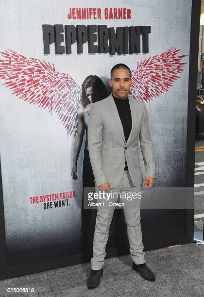 Actor Randy Gonzalez arrives for the Premiere Of STX Entertainment's Peppermint held at Stadium 14 on August 28 2018 in Los Angeles California