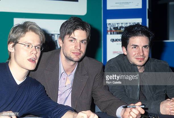 Actor Randy Harrison actor Gale Harold and actor Hal Sparks autograph copies of the newly released 'Queer as Folk' Season One DVD on DVD on January...