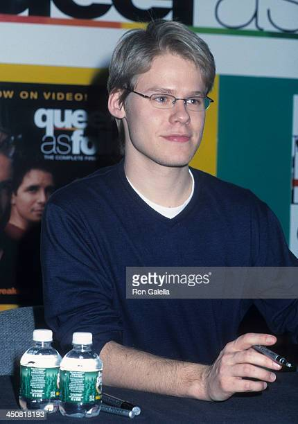 Actor Randy Harrison attends the 'Queer as Folk' Cast autographs copies of the Season One newly released on DVD on January 11 2002 at Tower Records...