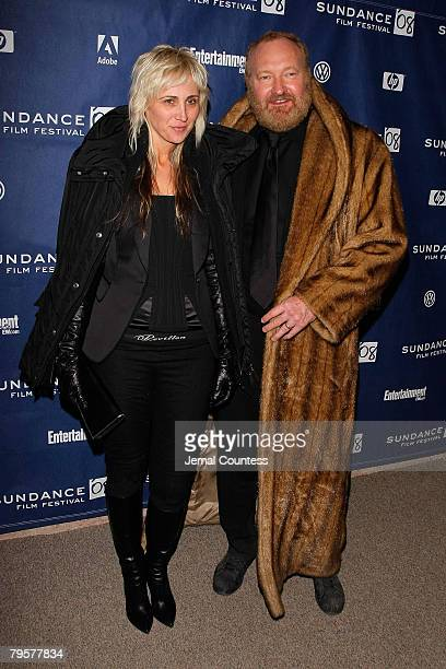 Actor Randy Quaid and Evi Quaid attend U2 3D premiere during 2008 Sundance Film Festival at Eccles Theatre on January 19 2008 in Park City Utah