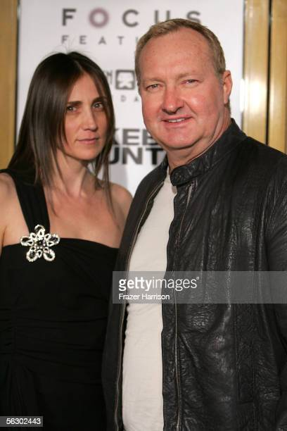 Actor Randy Quaid and wife Evi Quaid arrive at the premiere of Brokeback Mountain at the Mann National Theater on November 29 2005 in Westwood...