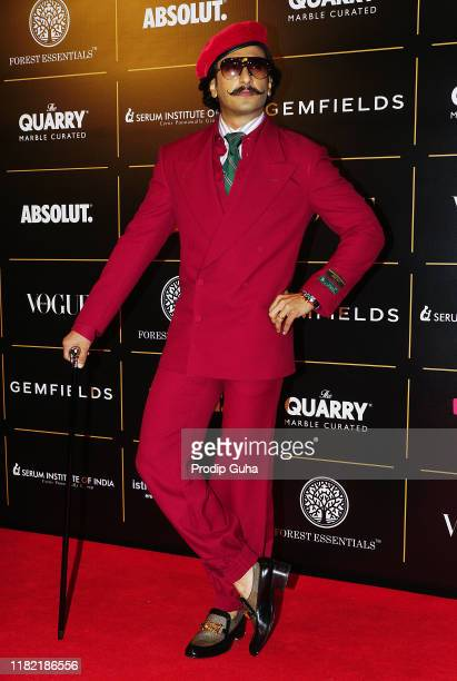 Actor Ranveer Singh attend the Vogue Women of the Year on October 19, 2019 in Mumbai, India.