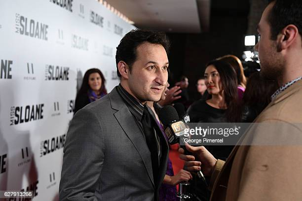 Actor Raoul Bhaneja attends Miss Sloane Toronto Premiere held at Isabel Bader Theatre on December 5 2016 in Toronto Canada