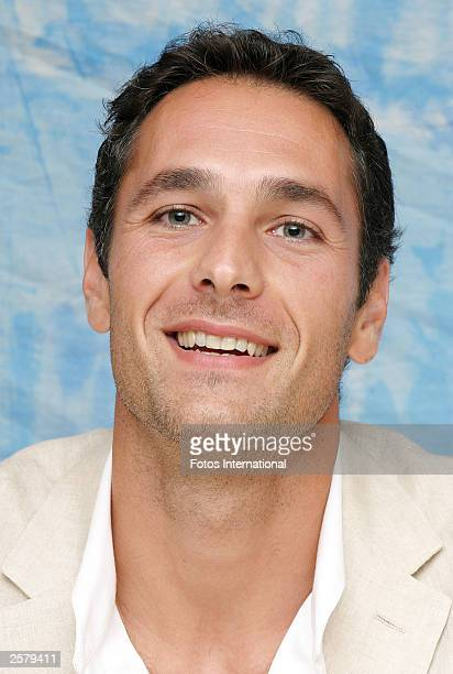 OUT*** Actor Raoul Bova attends the press conference for his new film Under the Tuscan Sun at the Four Seasons Hotel on September 13 2003 in Beverly...