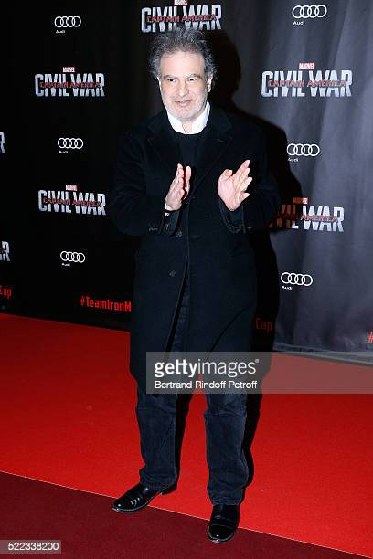 Actor Raphael Mezrahi attends the 'Captain America Civil War' Paris Premiere Held at Le Grand Rex on April 18 2016 in Paris France